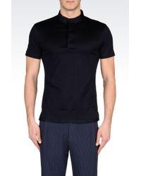 Emporio Armani Jersey Polo Shirt with Mandarin Collar - Lyst