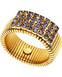 Janis By Janis Savitt Purple & Gold-Tone Ring - Lyst