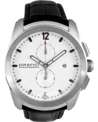 Orefici Watches - Classico Chronograph Watch With Leather Strap - Lyst
