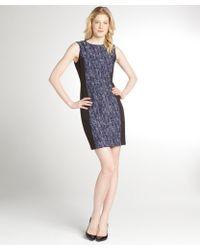 Tahari Navy Colorblock 'Judy' Dress - Lyst