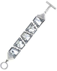 Vince Camuto Silver-tone Trapezoid Stone Link Bracelet - Lyst