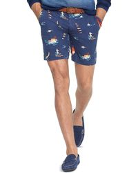 Ralph Lauren Polo Straight-fit Sailboat-print Short - Lyst
