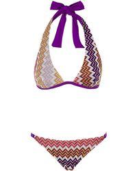 Missoni Mare Blocchi Halterneck Bikini - Lyst