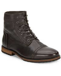 Marc New York - Citizen Leather Cap-toe Boots - Lyst