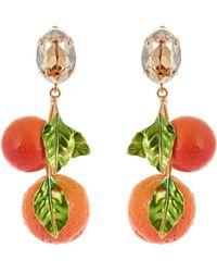 Dolce & Gabbana | Orange Drop Earrings | Lyst