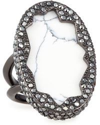 House of Harlow 1960 - Tanga Coast Howlite Ring - Lyst