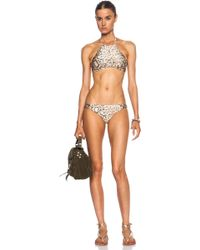 Zimmermann Essence Twist Halter Nylon-Blend Bikini - Lyst