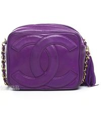 Chanel Pre-owned Lambskin Cc Vintage Camera Bag - Lyst