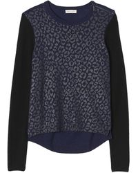 Rebecca Taylor Foiled Leo Pullover - Lyst