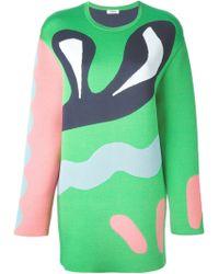 Issa 'Suki' Sweater Dress green - Lyst