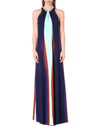 Diane Von Furstenberg Jordan Printed Silk Maxi Dress Mint  Col Bloc - Lyst