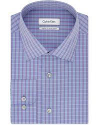 Calvin Klein Blue Horizon Check Dress Shirt blue - Lyst