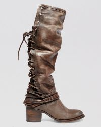 Freebird by Steven Tall Boots - Coal Lace Up - Lyst