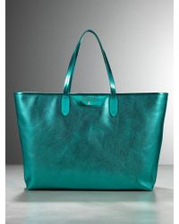 Patrizia Pepe Shopping Bag In Laminated Leather - Lyst