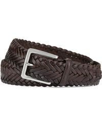 Cole Haan Braided Leather Belt - Lyst