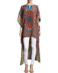 Tolani - Mandira High-Low Printed Kaftan - Lyst