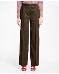 Brooks Brothers   Painted-button Wool Trousers   Lyst