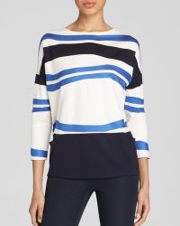Lafayette 148 New York Drop Shoulder Stripe Top - Lyst