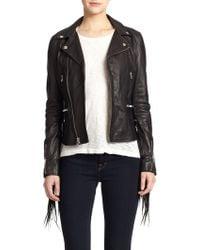 BLK DNM Fringe Leather Moto Jacket - Lyst