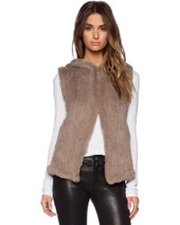 June Sheered Rabbit Fur Vest - Lyst