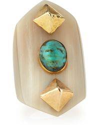 Ashley Pittman Mwamba Horn Ring With Turquoise - Lyst