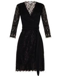 Diane Von Furstenberg Elisabeth Lace Wrap Dress - Lyst