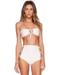 Tori Praver Swimwear Lotus Bikini Top - Lyst