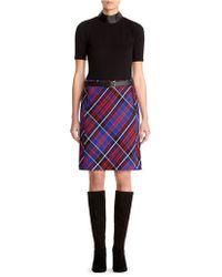 Anne Klein Plaid Printed Skirt - Lyst
