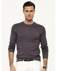 Ralph Lauren Black Label Cashmere Crewneck Sweater - Lyst