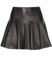 Ralph Lauren Leather Skater Skirt - Lyst