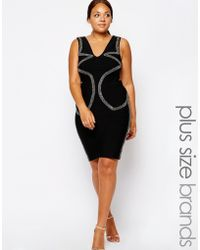 Forever Unique Plus Size Harmony Body-Conscious Dress - Lyst