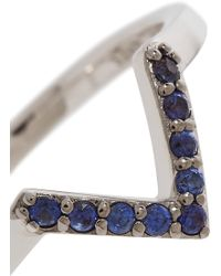 Elizabeth and James - Edo Rhodium-plated Synthetic Sapphire Ring - Lyst