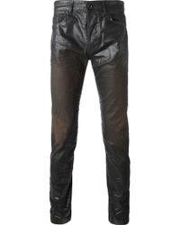 Diesel Black Gold Coated Skinny Jeans - Lyst