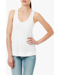 7 For All Mankind Modal Racerback Tank - Lyst