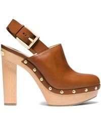 Michael Kors Beatrice Leather Sling-Back Clog - Lyst