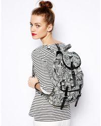 Monki - Edla Zebra Print Backpack - Lyst