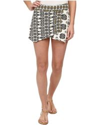 Free People Cotton Loose Weave Tribal Skort black - Lyst