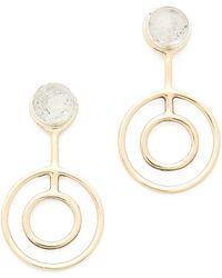 Pamela Love Telepathy Earrings Brassclear - Lyst