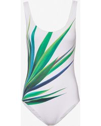 Onia   Yucca Leaf Print Swimsuit   Lyst