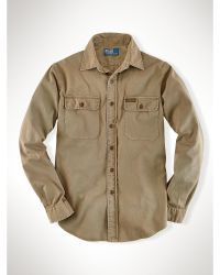 Polo Ralph Lauren Custom Twill Military Shirt - Lyst
