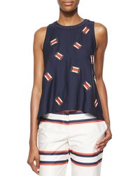 Sass & Bide The Undone Split-Back Embroidered Top - Lyst