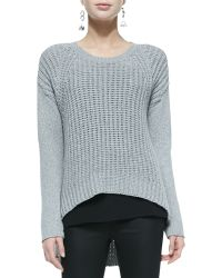Eileen Fisher Airy Wool-Blend Arched Top - Lyst