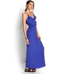 Forever 21 Ruffled Maxi Dress - Lyst