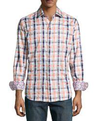 Robert Graham Waine Check Woven Sport Shirt - Lyst