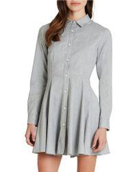 BCBGeneration Blue Shirt Dress - Lyst