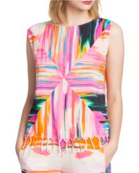 Plenty by Tracy Reese - Fringed Tassel Painterly Muscle Tee - Lyst