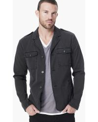 James Perse Cotton Drill Military Blazer - Lyst