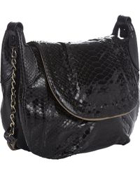 Zagliani Python Linda Medium Shoulder Bag - Lyst