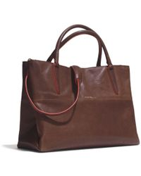Coach The Large Soft Borough Bag in Vachetta Leather - Lyst