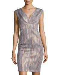Catherine Catherine Malandrino Metallic Snake-Print Dress - Lyst
